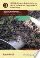Libro de Manejo De Instalaciones Para La Elaboración De Productos Alimentarios. Inad0108