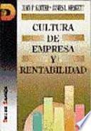 Libro de Cultura De Empresa Y Rentabilidad