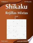 Libro de Shikaku Rejillas Mixtas   Fácil   Volumen 2   159 Puzzles