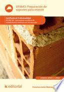 Libro de Preparación De Soportes Para Revestir. Eocb0109