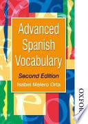 Libro de Advanced Spanish Vocabulary