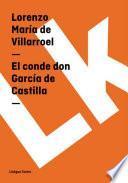 Libro de El Conde Don García De Castilla