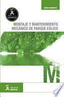Libro de Montaje Y Mantenimiento Mecánico De Parque Eólico