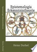 Libro de Epistemología   Erkenntnistheorie