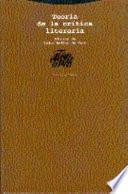 Libro de Teoría De La Crítica Literaria