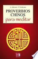 Libro de Proverbios Chinos Para Meditar