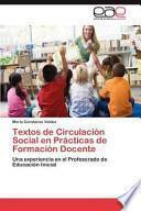 Libro de Textos De Circulación Social En Prácticas De Formación Docente