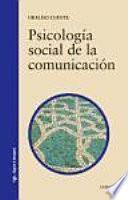 Libro de Psicología Social De La Comunicación