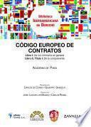 Libro de Código Europeo De Contratos De La Academia De Pavía