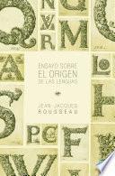 Libro de Ensayo Sobre El Origen De Las Lenguas