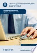 Libro de Aplicaciones Informáticas De Contabilidad. Adgd0308   Actividades De Gestión Administrativa