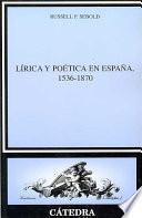 Libro de Lírica Y Poética En España, 1536 1870