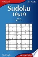 Libro de Sudoku 10×10   Fácil   Volumen 9   276 Puzzles