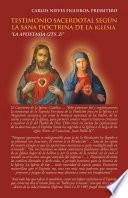 Libro de Testimonio Sacerdotal Según La Sana Doctrina De La Iglesia.