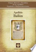 Libro de Apellido Bailón