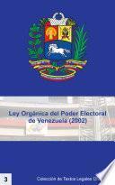 Libro de Ley Orgánica Del Poder Electoral De Venezuela   Lope (2002)