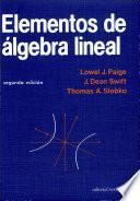 Libro de Elementos De álgebra Lineal