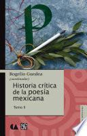Libro de Historia Crítica De La Poesía Mexicana. Tomo Ii