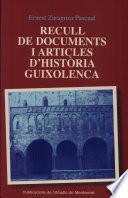 Libro de Recull De Documents I Articles D Història Guixolenca