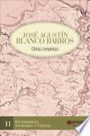 Libro de Jose Agustín Blanco Barros