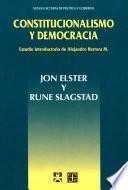 Libro de Constitucionalismo Y Democracia