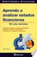 Libro de Aprenda A Analizar Estados Financieros