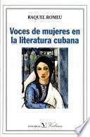 Libro de Voces De Mujeres En La Literatura Cubana