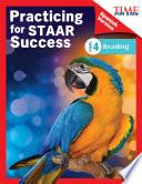 Libro de Time For Kids® Practicing For Staar Success: Reading: Grade 4 (spanish Version)