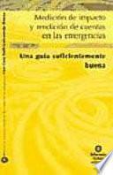 Libro de Impact Measurement And Accountability In Emergencies