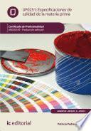 Libro de Especificaciones De Calidad De La Materia Prima. Argm0109