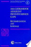 Libro de Ama Guidelines For Adolescent Preventive Services (gaps)
