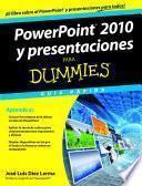 Libro de Powerpoint 2010 Y Presentaciones Para Dummies