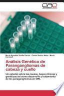 Libro de Análisis Genético De Parangangliomas De Cabeza Y Cuello