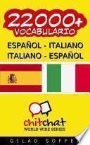Libro de 22000+ Español   Italiano Italiano   Español Vocabulario