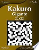 Libro de Kakuro Gigante 22×22   Volumen 3   153 Puzzles
