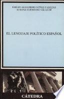 Libro de El Lenguaje Político Español