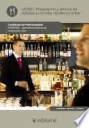 Libro de Preparación Y Servicio De Bebidas Y Comidas Rápidas En El Bar. Hotr0208