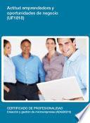 Libro de Uf1818   Actitud Emprendedora Y Oportunidades De Negocio