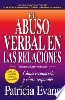 Libro de El Abuso Verbal En Las Relaciones, Tercera Edicion Ampliada