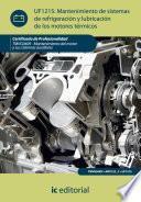 Libro de Mantenimiento De Sistemas De Refrigeración Y Lubricación De Los Motores Térmicos. Tmvg0409