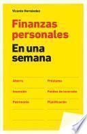 Libro de Finanzas Personales En Una Semana