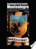 Libro de Genealogía De La Familia Montealegre