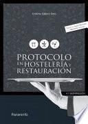 Libro de Protocolo En Hostelería Y Restauración