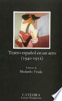Libro de Teatro Español En Un Acto