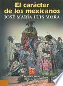 Libro de El Carácter De Los Mexicanos