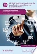 Libro de Aplicación De Técnicas De Usabilidad Y Accesibilidad En El Entorno Cliente. Fcd0210