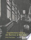 Libro de Arquitectura Italiana Del Barroco Al Rococó