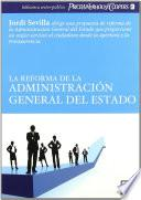 Libro de La Reforma De La Administración General Del Estado