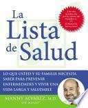 Libro de La Lista De Salud