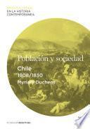 Libro de Población Y Sociedad. Chile (1808 1830)
